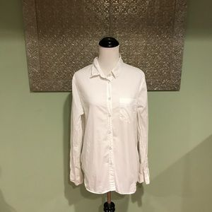 Madewell Classic White Button Down Shirt